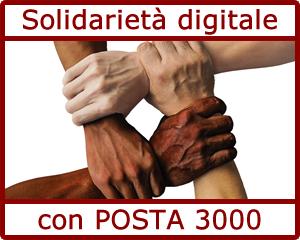 Solidarietà digitale con Posta 3000